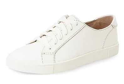 6431da762a6b ZXD Christie -Zapatillas Tipo Court Blancas Minimalistas Piel Sintética  Suela de Goma Plana y Cordones