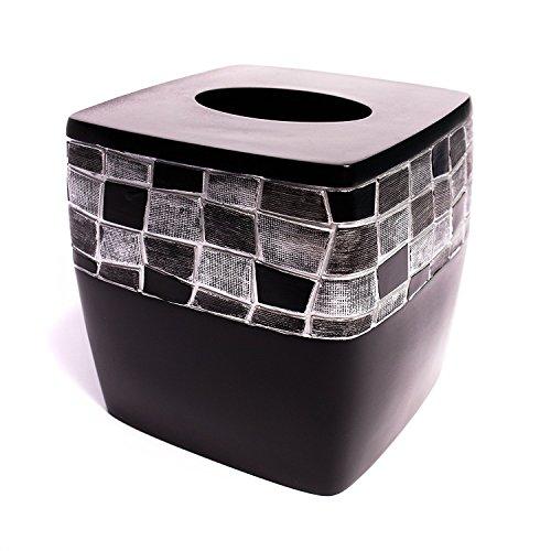 Mosaic Tissue - Popular Bath Mosaic Stone Black Tissue Box