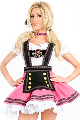 COSWE Womens Babe Beer Girl Maiden Adult Halloween Costume Size (Bavarian Costume Female)