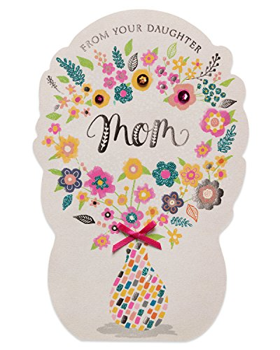 (American Greetings Bouquet Mother's Day Greeting Card from Daughter with Glitter)