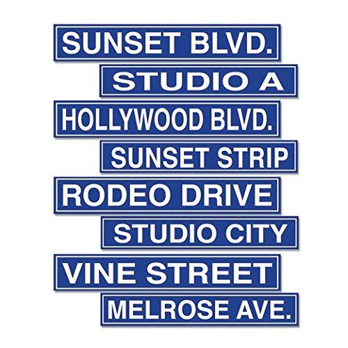 Hollywood Street Sign Cutouts - Hollywood Shops Blvd