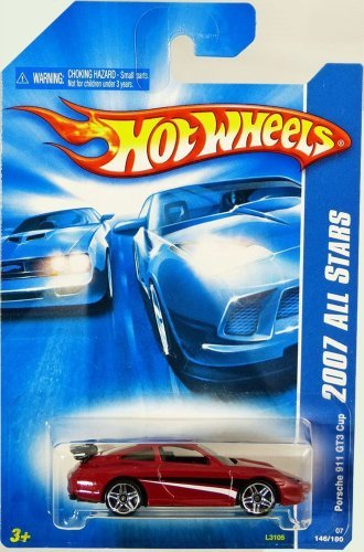 Hot Wheels 2007 All Stars Red Porsche 911 GT3 Cup #146 1:64 Scale (Cup Porsche Gt3)