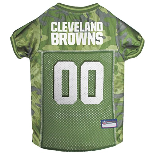 (NFL Cleveland Browns Camouflage Dog Jersey, X-Large. - CAMO PET Jersey Available in 5 Sizes & 32 NFL Teams. Hunting Dog Shirt)