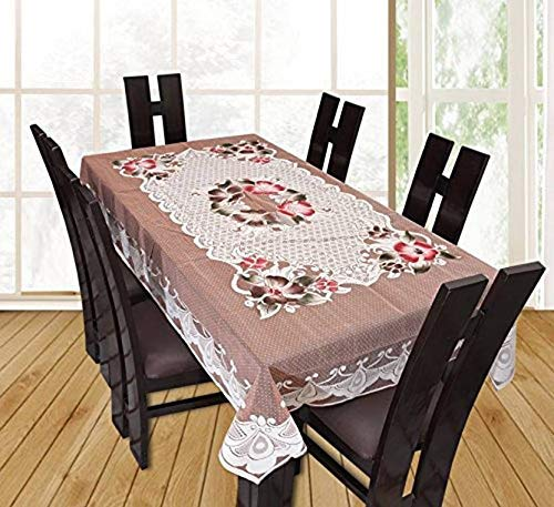 Fairy Home Floral Net Cloth 6 Seater Dining Table Cover 60 * 90 Inch