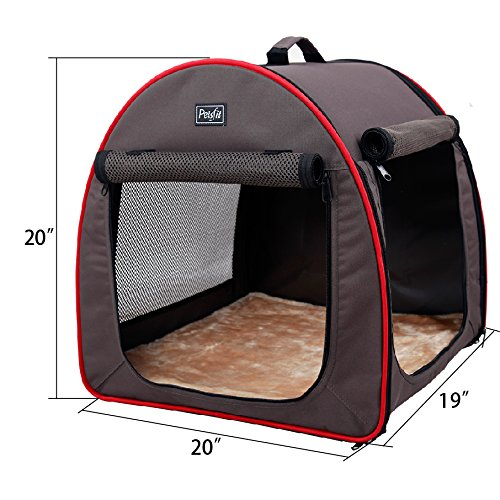 petsfit soft portable dog crate cat crate foldable pet. Black Bedroom Furniture Sets. Home Design Ideas