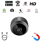 Mini Spy Camera WiFi Hidden Camera wifi MICROFIRE Wireless HD 1080P Indoor Home Small Spy Cam Security Cameras/Nanny Cam Motion Detection/Night Vision …