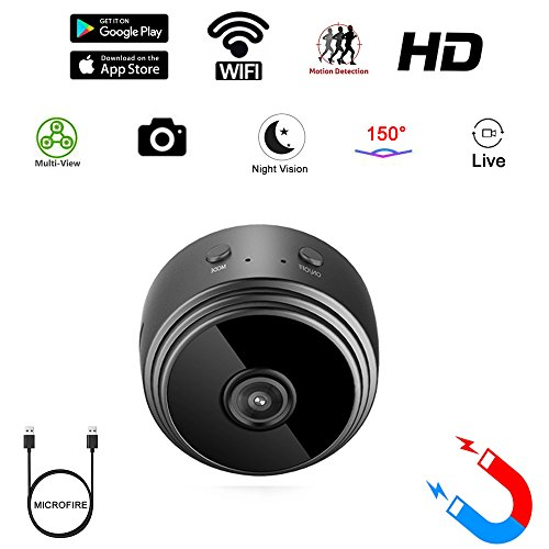 (Mini Spy Camera WiFi Hidden Camera wifi MICROFIRE Wireless HD 1080P Indoor Home Small Spy Cam Security Cameras/Nanny Cam Motion Detection/Night Vision)