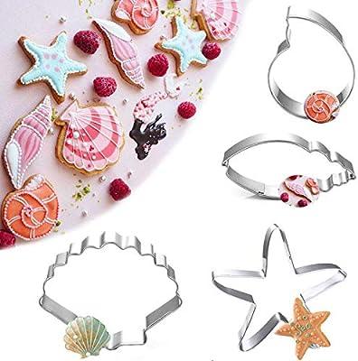 Leisial Conchas Conchas Estrella de mar Forma Acero Inoxidable ...