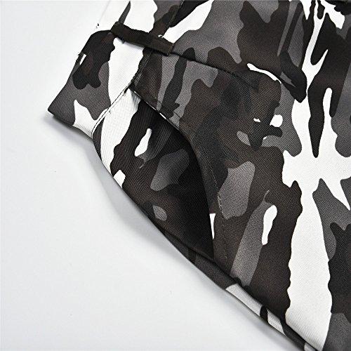 NINGSANJIN Femmes Pantalons de camouflage Camo Casual cargo Joggers Pantalons Hip Hop Pantalons Rock