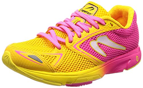 Newton Women's Distance 7 Running Shoe Pink/Yellow 7