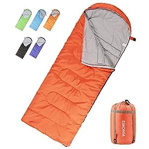 Emonia Camping Sleeping Bag,Three Season Waterproof Outdoor Hiking Backpacking Sleeping Bag Perfect for Traveling,Lightweight Portable Envelope Sleeping Bags for Adults,Girls and Boys