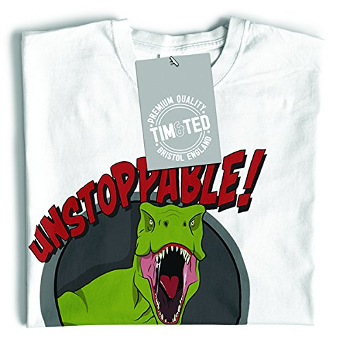 Unstoppable T-Rex con Grabber, divertente disegno stampato Dinosaur T-Shirt Da Donna