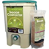SCD Probiotics K100 All Seasons Indoor Composter Kit, Tan Bucket with Bokashi