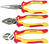 Wiha 32981 Insulated Industrial Pliers/Cutters Set, 3-Piece