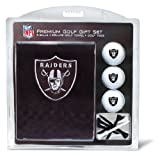 Team Golf NFL Oakland Raiders Gift Set Embroidered Golf Towel, 3 Golf Balls, and 14 Golf Tees 2-3/4″ Regulation, Tri-Fold Towel 16″ x 22″ & 100% Cotton