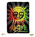 JUST FUNKY Sublime Sun Ska Band Fleece Throw Blanket/Tapestries Decorative Wall Hanging - Gift, Sofa/Bed Kids Blanket Video Games, Coral Fleece 240 GSM, 45''x60''