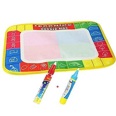Doodle agua /Tablero de Escritura de Agua Mat ,xhforever 4 Color Mat dibujo del agua; Magic Pen Doodle de juguete de regalo 29X19cm