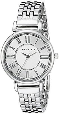 Anne Klein Women's AK/2159SVSV Silver-Tone Bracelet Watch