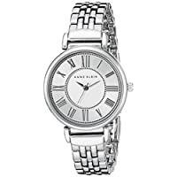 Reloj de pulsera en tono plateado AK /2159SVSV de Anne Klein para mujer