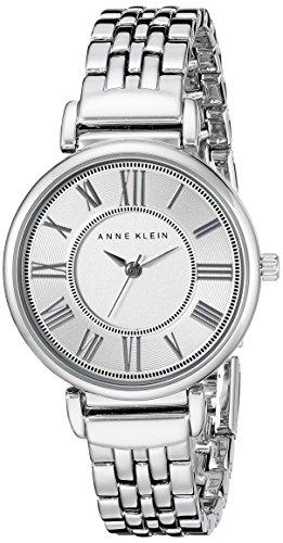 Anne Klein Women's AK/2159SVSV Silver-Tone Bracelet Watch - Anne Klein Roman Numeral Bracelet