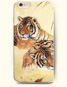 Case Cover For HTC One M8 Two Tigers Lying together
