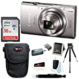 Cheap Canon PowerShot ELPH 360 HS 20.2 MP Digital Camera (Silver) with 16GB Accessory Bundle