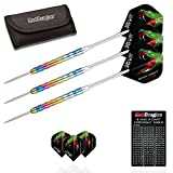 Team Red Dragon Peter Wright Snakebite 1: 24 Gram Tungsten Steel Darts with Flights, Shafts & Wallet by Red Dragon Darts
