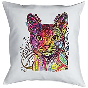 Color Cojín Neon Abisinio (gato) sofá regalo Cojín 40x 40cm Impreso GeIL