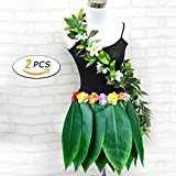 Hawaii Party Simulated Small Flower Leaves Hula Skirt Costume Beach Party Decoration