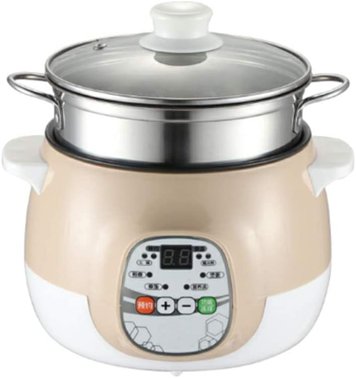 DBM-CXG Small Rice Cooker, Kitchen Non Stick Stainless Steel Steam Rice Food Electric Fast Multi Cooker, Suitable for Home use and Travel
