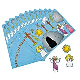 Fun Express - He Lives! Make-A-Scene Stickers for Easter - Stationery - Stickers - Make - A - Scene (Sm) - Easter - 12 Pieces