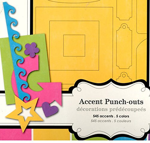 Colorbok Accent Punch-outs, Scrapbook Shapes, Die Cuts, Bright Colors, Die Cut Tags, Die Cut Shapes, Punchies, Punched Shapes