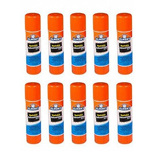 Elmers Washable All-Purpose School Glue Sticks, .24 Ounc Each, 10-Pack by Elmer's
