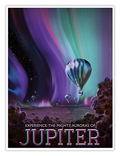 NASA Jpl Visions of the Future Space Tourism Travel Poster Jupiter Handmade Gicl?e Gallery