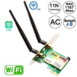 Ubit Wireless Network Card, Wireless WiFi Dual Band Gigabit Adapter, 867Mbps 2.4Ghz-300Mbps/5Ghz-867Mbps