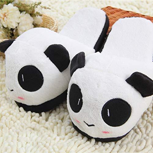 Emoji Panda Flat Slippers Animaux Chaussures Unisexe Couple Accueil Furry En Intérieur Cartoon 04 Femmes Hiver Peluche Hw8q5tSng