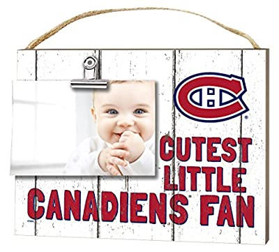 """KH Sports Fan 10""""x8"""" Montreal Canadiens Clip It Weathered Baby Logo NHL Photo Frame"""