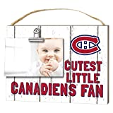 "KH Sports Fan 1001101654 10""x8"" Montreal Canadians Clip It Weathered Baby Logo NHL Photo Frame"