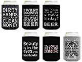 Funny Beer Coolie Gift Bundle Beer Drinking Sayings Gag Gifts 6 Pack Can ...