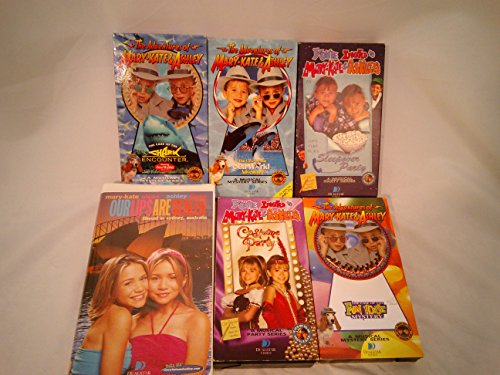 [Lot of 6 Mary Kate & Ashley VHS Tapes - Sleepover, Costume Party] (Mary Kate And Ashley Costume Party)