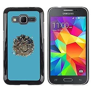 Estuche Cubierta Shell Smartphone estuche protector duro para el teléfono móvil Caso Samsung Galaxy Core Prime SM-G360 / CECELL Phone case / / tiny planet city street urban blue ball /