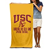 "USC Trojans Cardinal And Gold Game Spring Football 31.5""51""Pool Beach Towel"