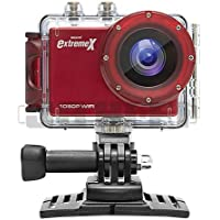 MiGear Extreme X Explorer 1080p Action Camera Bundle with Waterproof Case Red