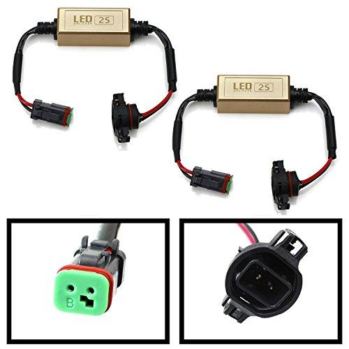 iJDMTOY (2) 5202/2504 To Deutsch DT DTP Canbus Anti Flicker Resistor Canceller Decoders For LED Pod Driving Lights, LED Light Bar, LED Worklamps, etc