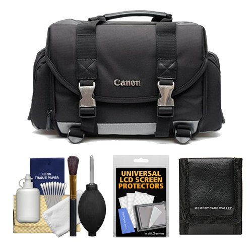 Canon 200DG Digital SLR Camera Case – Gadget Bag + Kit for Canon EOS 6D, 7D, 77D, 80D, 5DS R, 5D Mark II III IV, Rebel T6, T6i, T6s, T7i, SL1, SL2