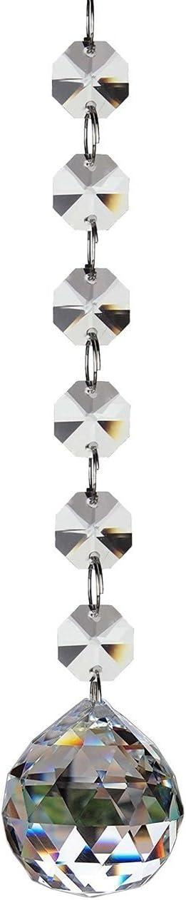 Fushing 2 Piezas 305mm De Colgantes De Cristal Bola De Bolas Prismáticas De Piezas De Perlas De Filamentos