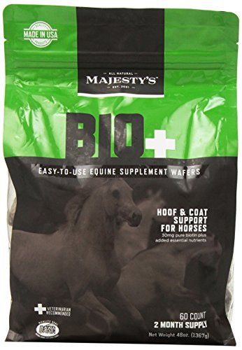 Majesty's Biotin Wafers - Hoof therapy for horses - 60 count bag (Diaper Cookie)