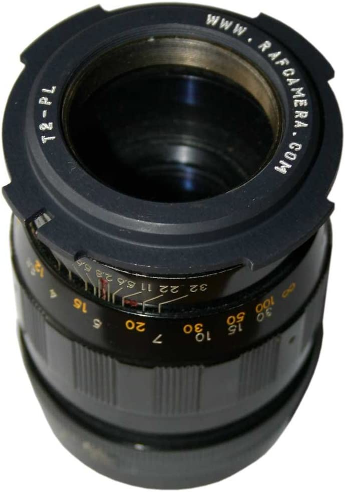 T2 Female Thread to Arri PL Camera Mount Adapter Black