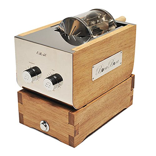BOCABOCA Coffee Bean Roaster 250 Home Roasting Machine with Cooler Nuts Barista Home Kitchen Cafe 220V & Simple English Guide by BOCABOCA