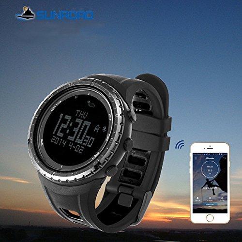HITSAN SUNROAD APP Smart Bluetooth Watch 500-9000m Altimeter 300-1100hpa Barometer Pedometer Fishing Tools One Piece